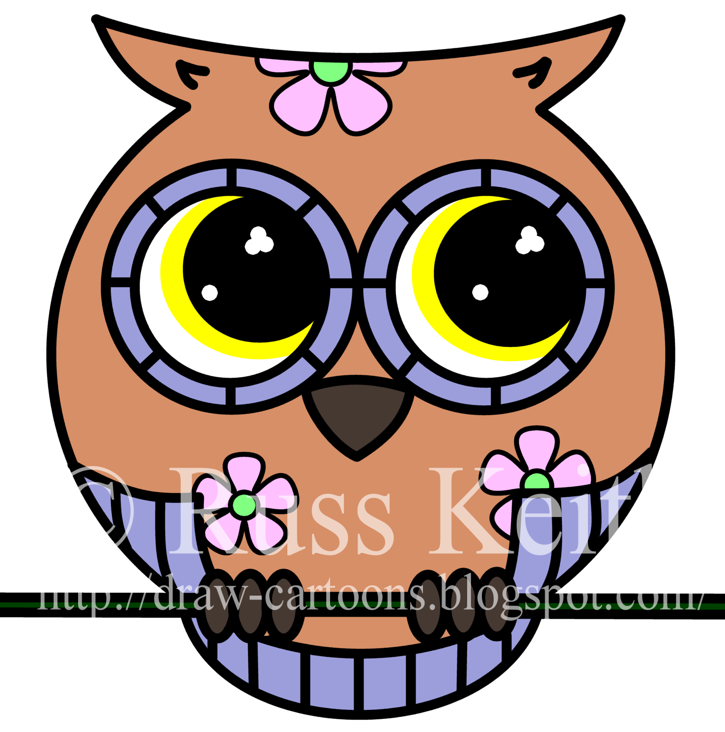 Clipart owl sketch. Simple step by tutorial
