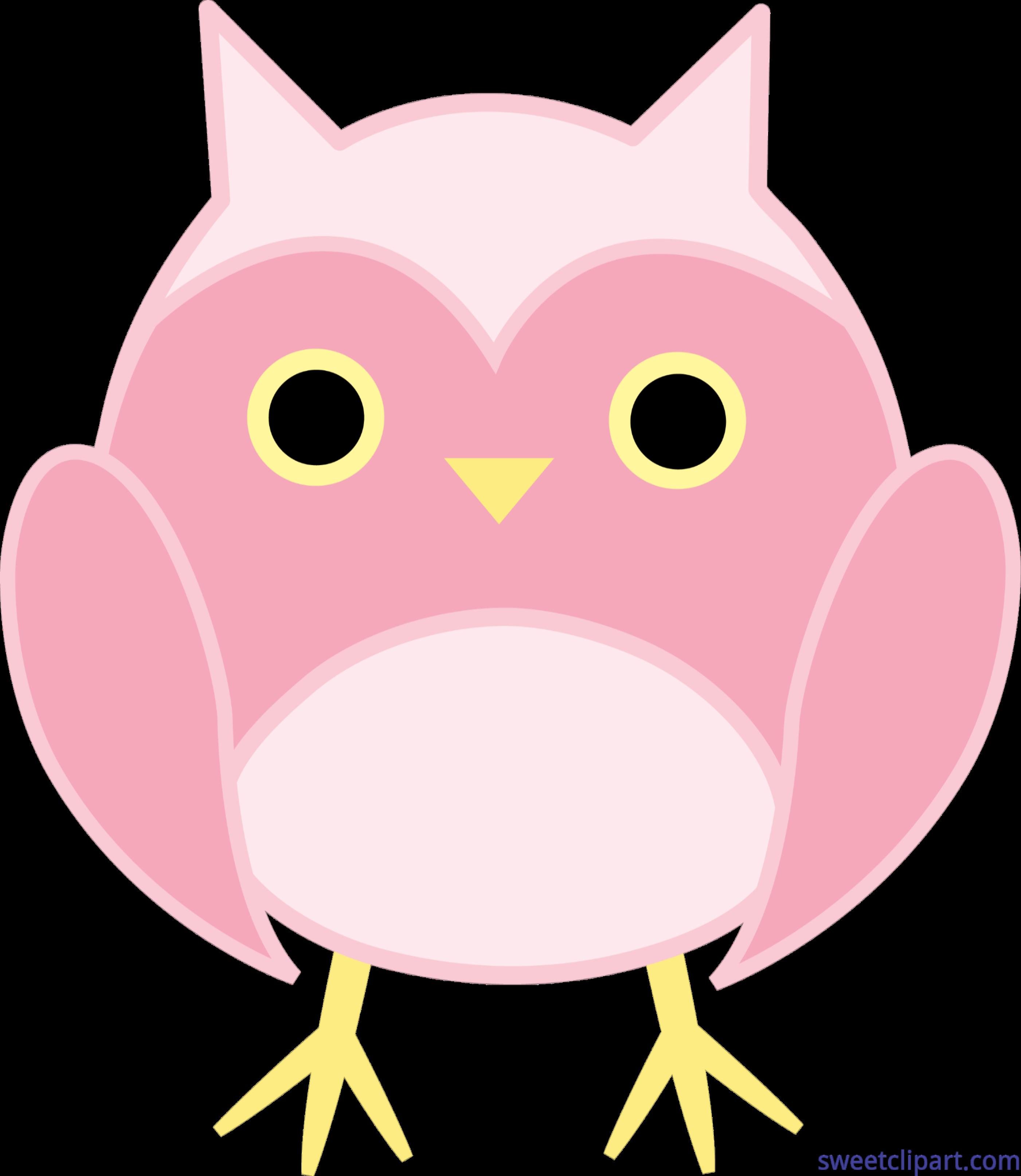 Email clipart design cute. Owl pink clip art