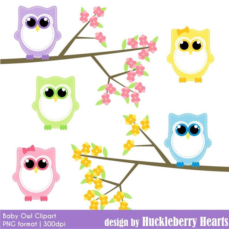 Clipart owl spring. Baby clip art digital