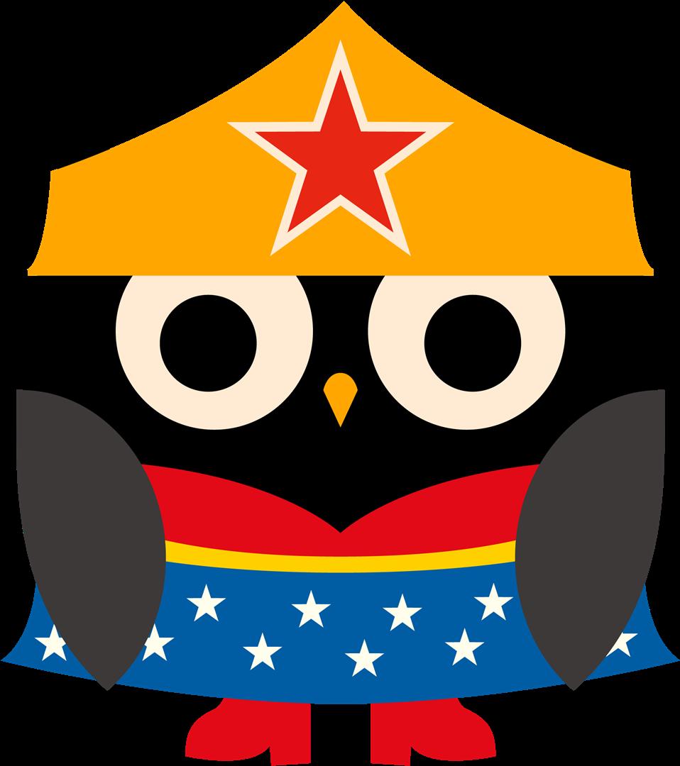 Owl clip art arts. Wow clipart superhero