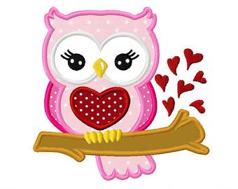 Clipart owl valentines day. Valentine etsy