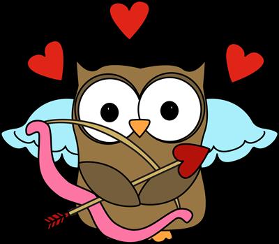 Cupid clip art valentine. Clipart owl valentines day