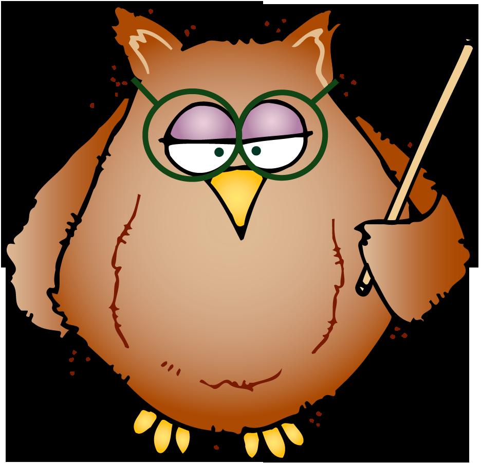 Clipart teacher spelling. Owl writing panda free