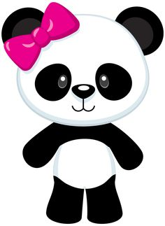 Clipart panda. Little scrapbooking and craft