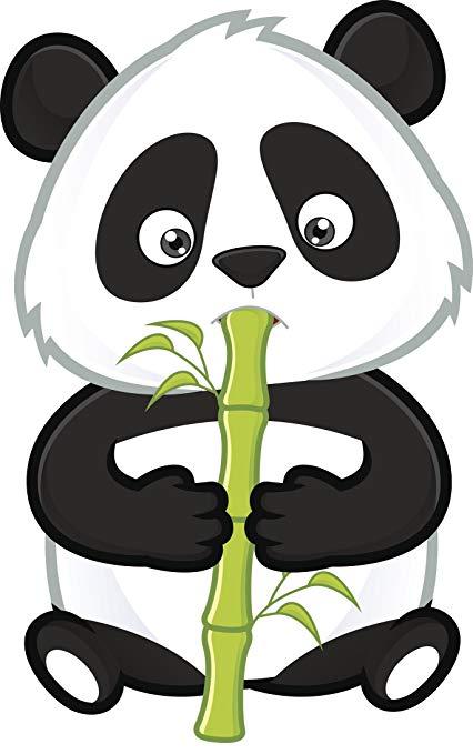 Clipart panda bamboo stick. Amazon com adorable baby