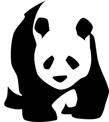 Clipart panda black and white. Free