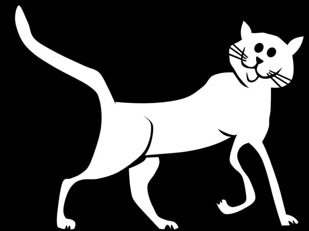 Cat clip art free. Clipart panda black and white