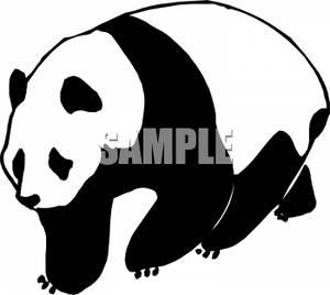 Free . Clipart panda black and white