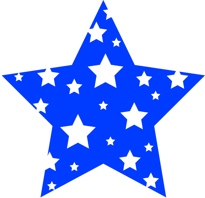 Clipart stars blue. Red white and star