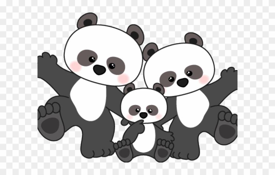 Scrapbook clipart pandas. Panda black and white