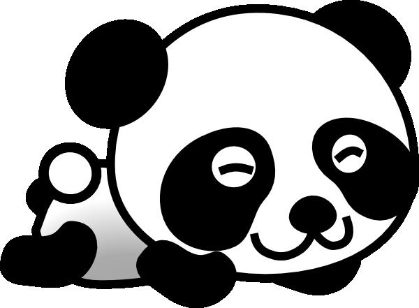 Clipart panda clip art. Vector free