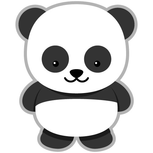 Clipart panda easy. Free simple cliparts download
