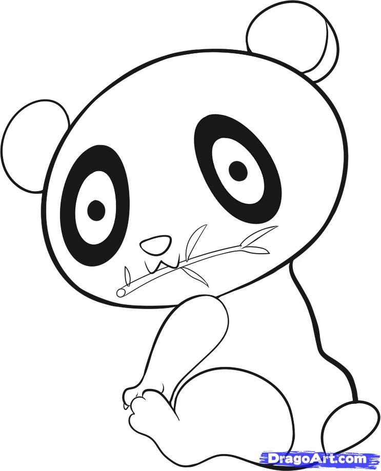 Clipart panda easy. How to draw an
