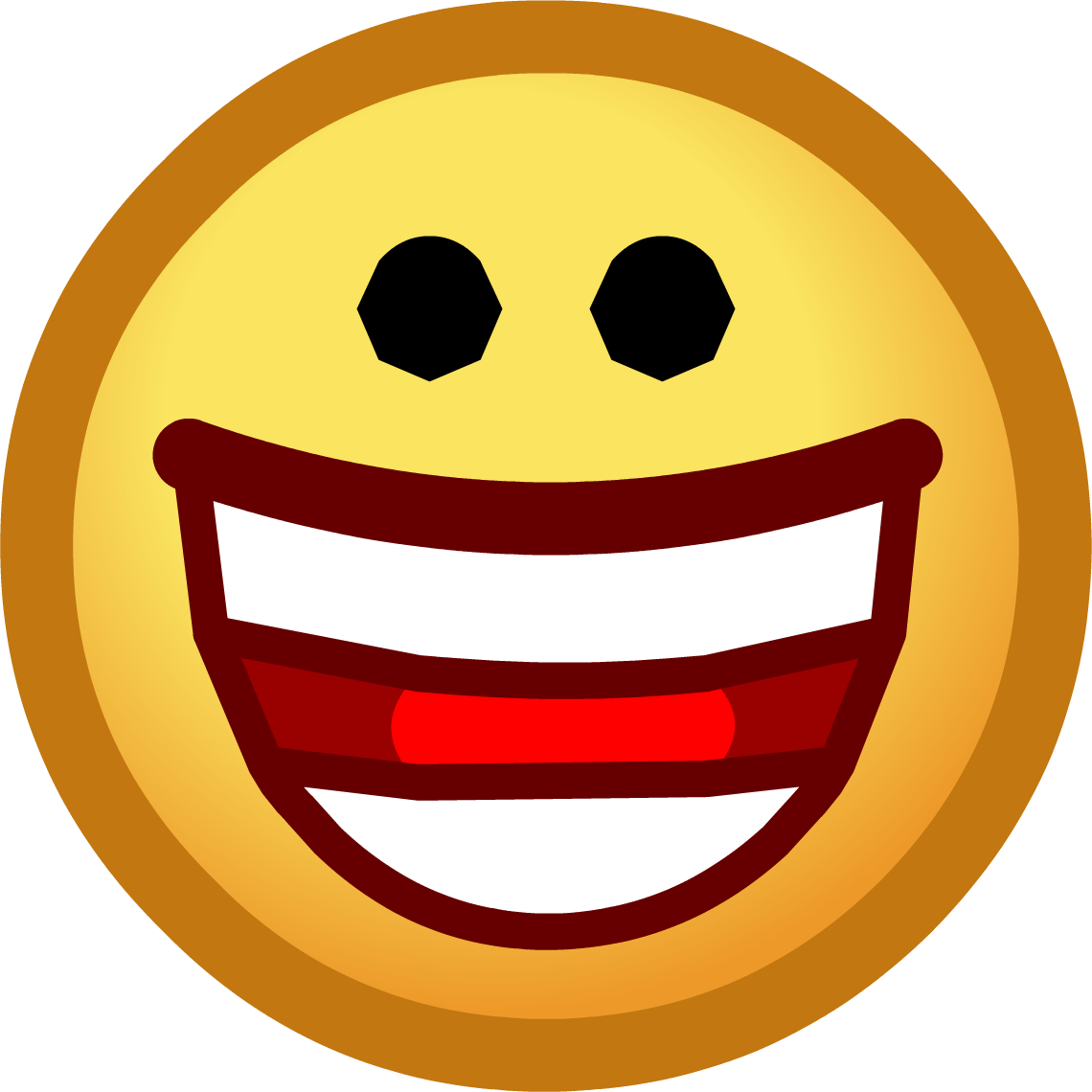 Hurt clipart emoticon. Laughing smiley face panda
