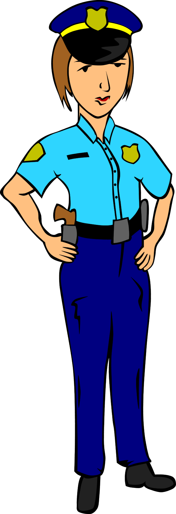 Female police officer panda. Handcuff clipart policeman