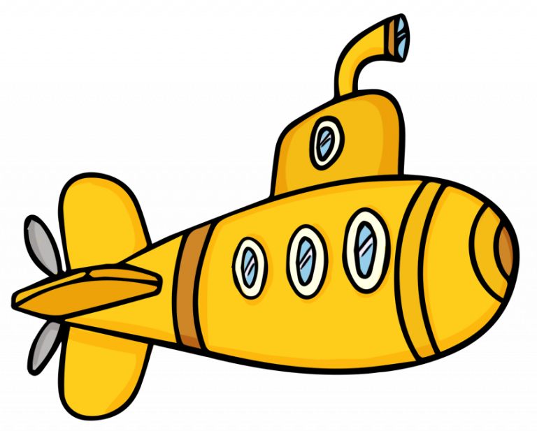 Submarine cartoon image clip. Holiday clipart end