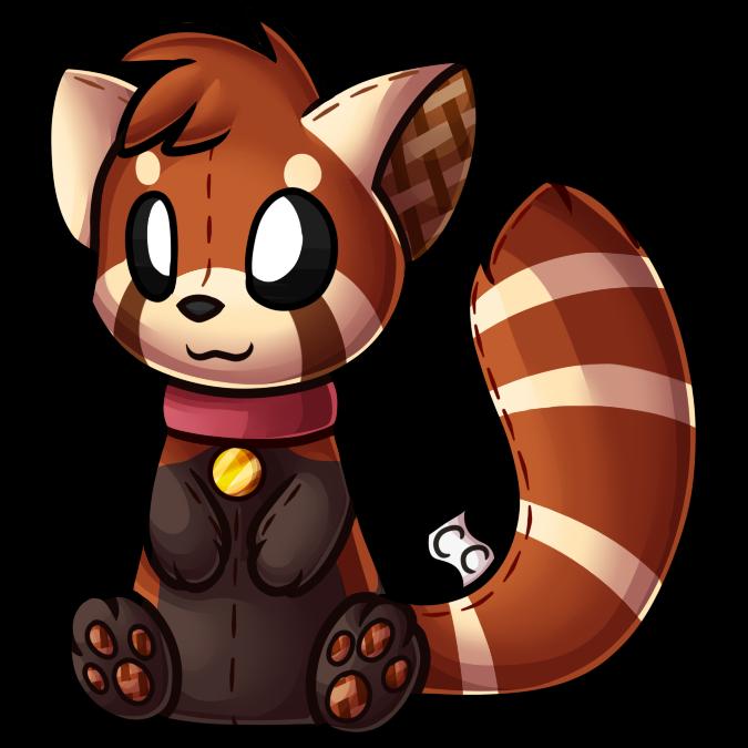 Clipart panda fuzzy. Clickcritters red kiro plushie