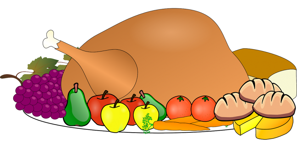 Attractive first thanksgiving table. Feast clipart shared lunch