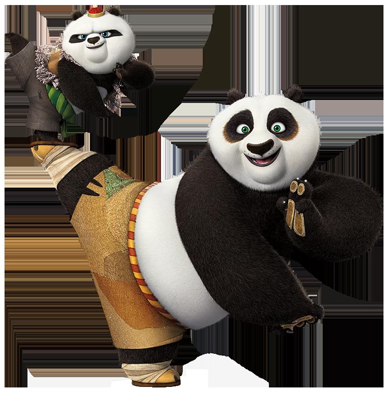 Kung fu png clip. Panda clipart snow