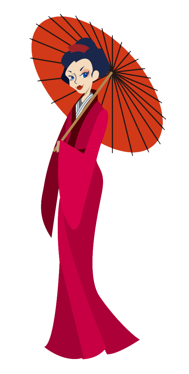 Japanese clip art for. Lady clipart person