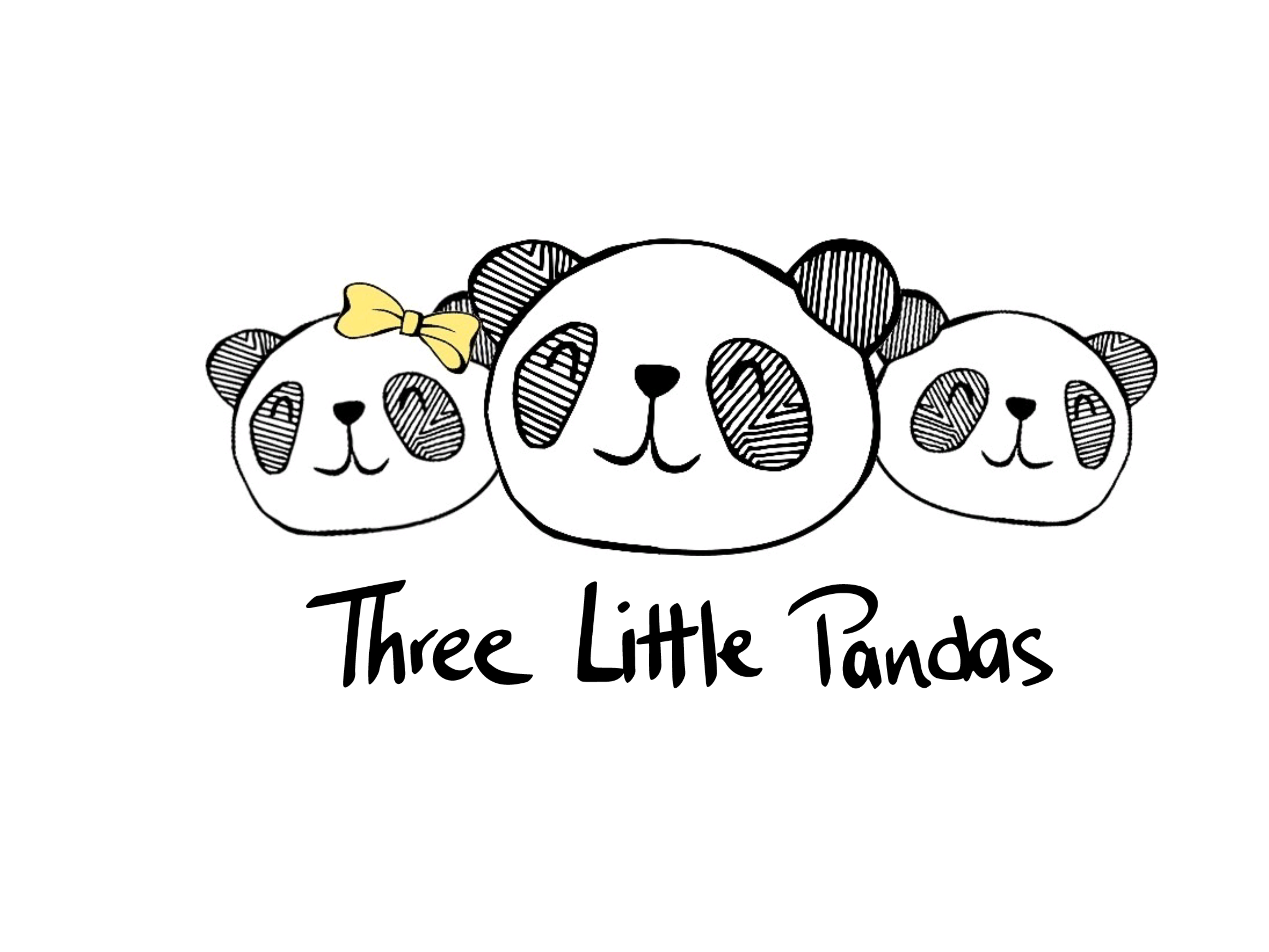 Three pandas for mabuhay. Clipart panda little panda