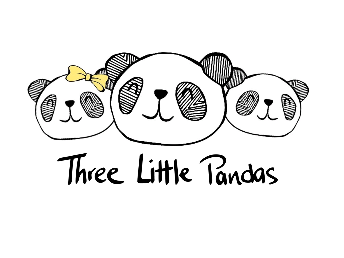 Three pandas one big. Clipart panda little panda