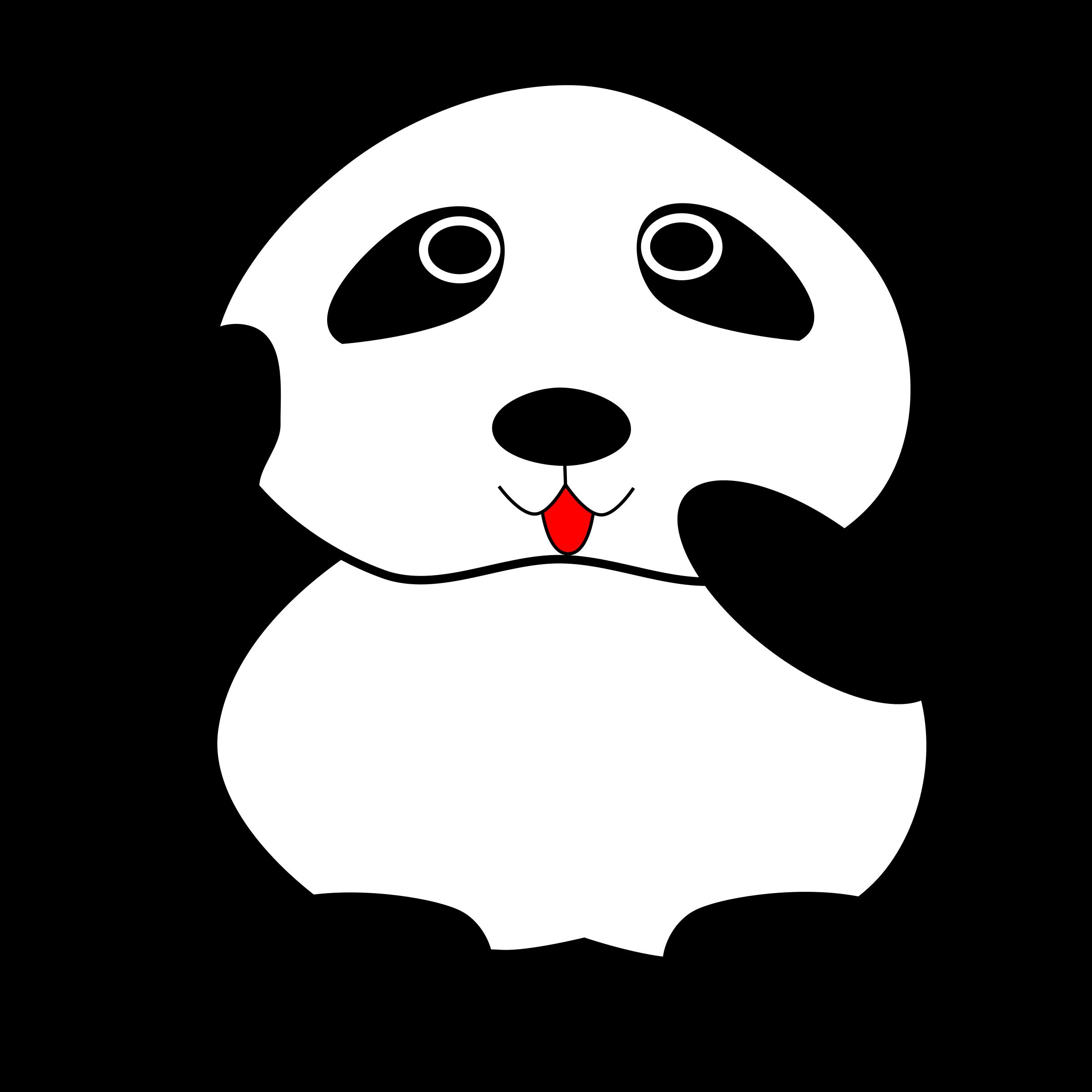 Big image png. Clipart panda mammal