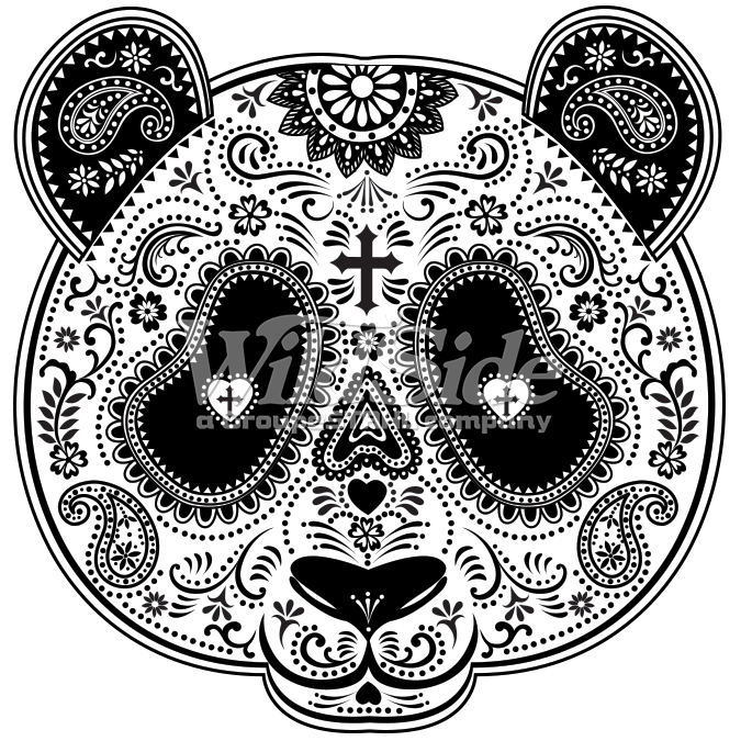 Clipart skeleton day the dead. Of panda mask wild