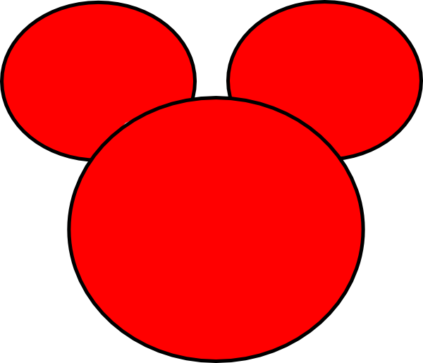 Mickey silhouette clip art. Free clipart mouse