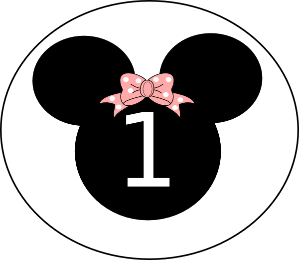 One clipart minnie mouse. Birthday clip art at