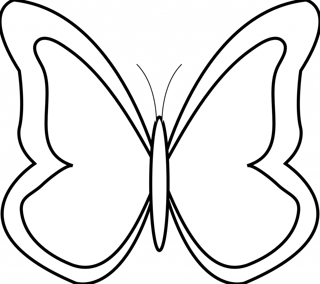 Popular butterfly out line. Clipart panda outline clipart