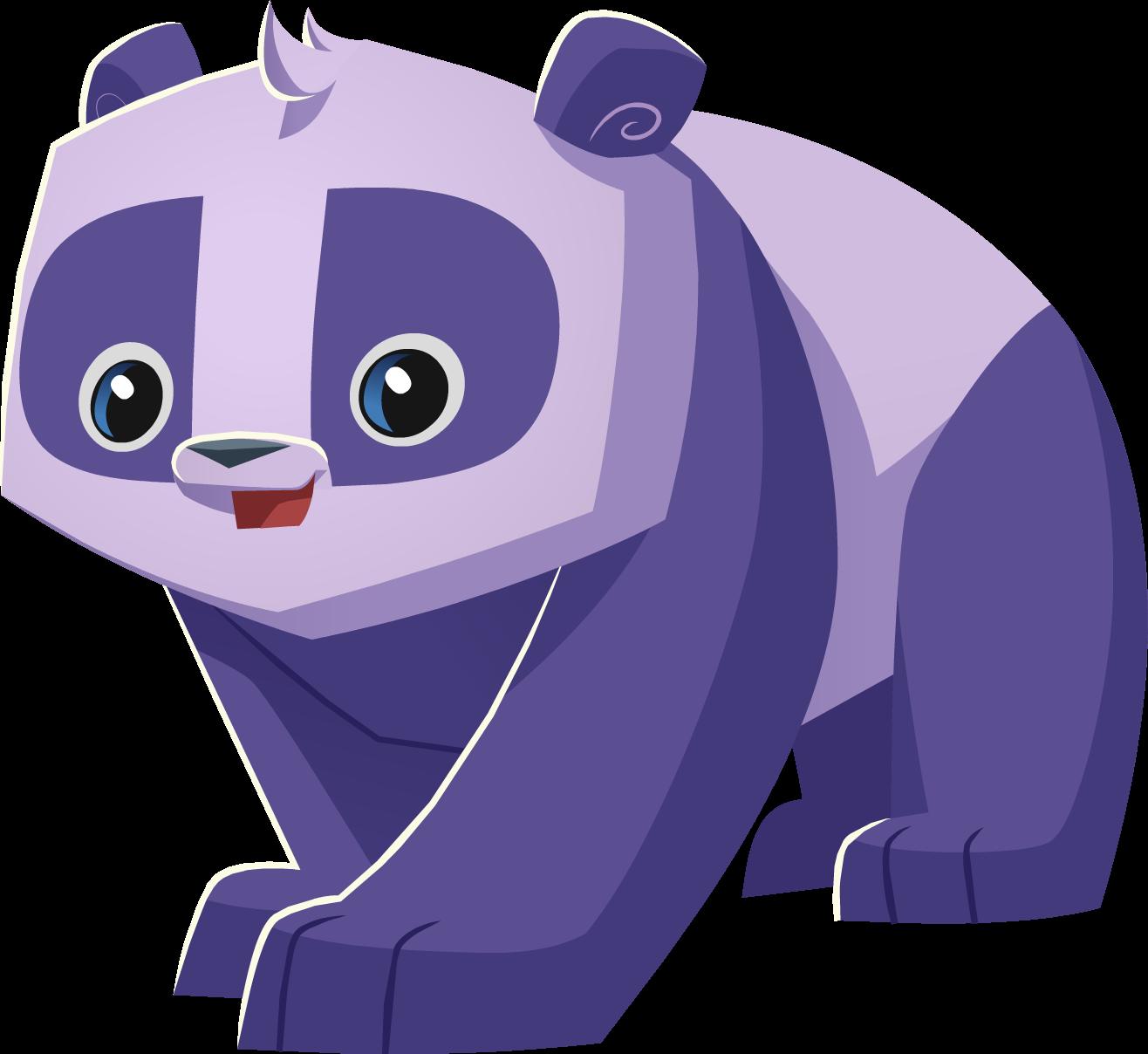 Image pink and panda. Jam clipart purple