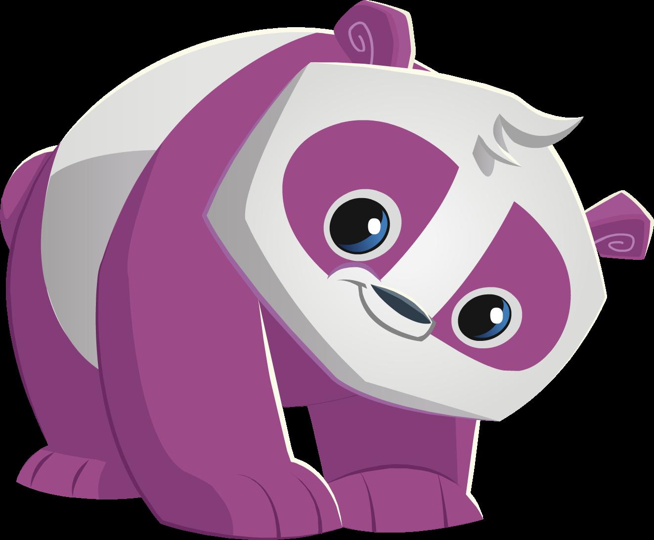 Image purple panda png. Cougar clipart animal jam