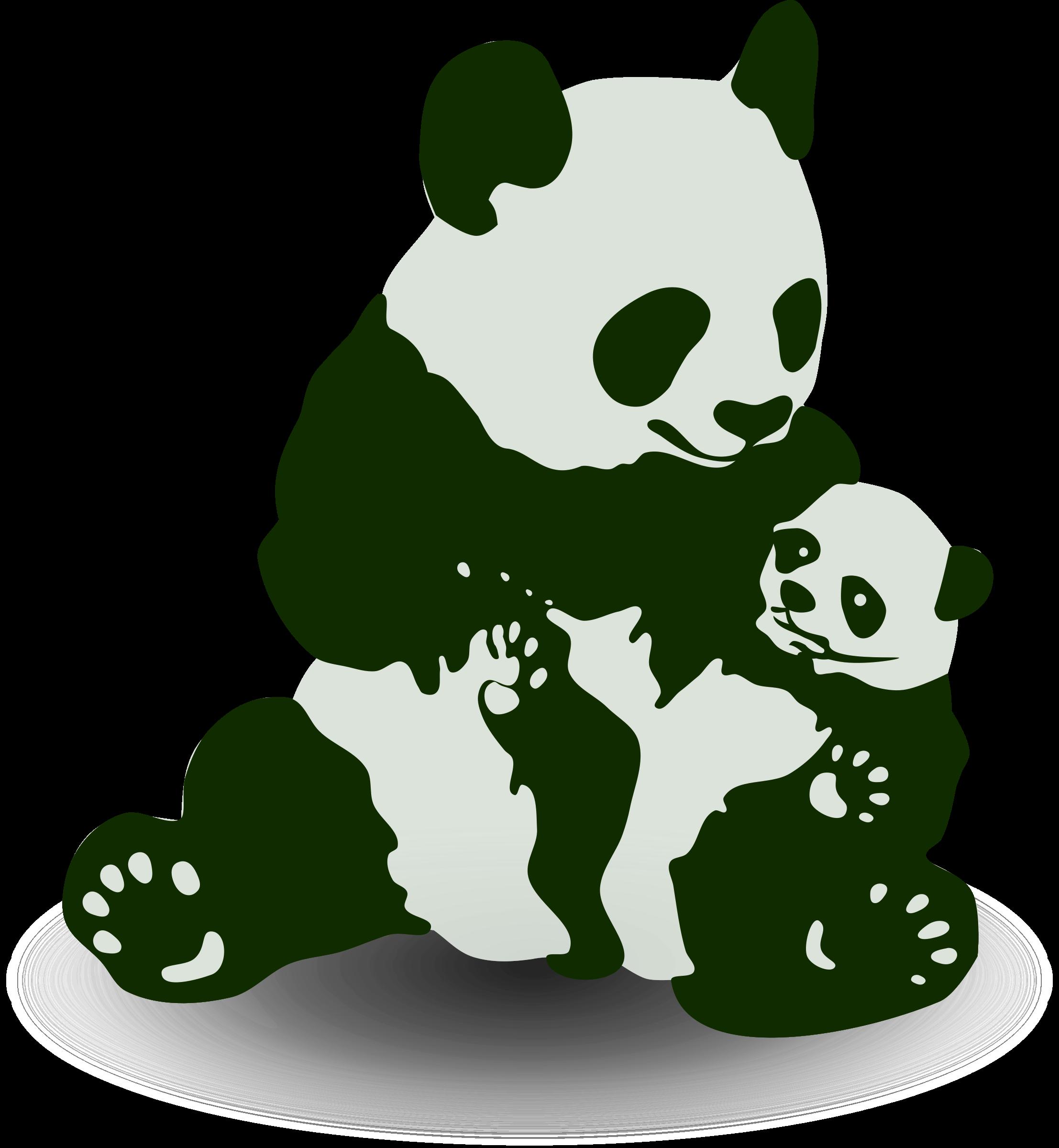 Panda clipart vector. Baby big image png