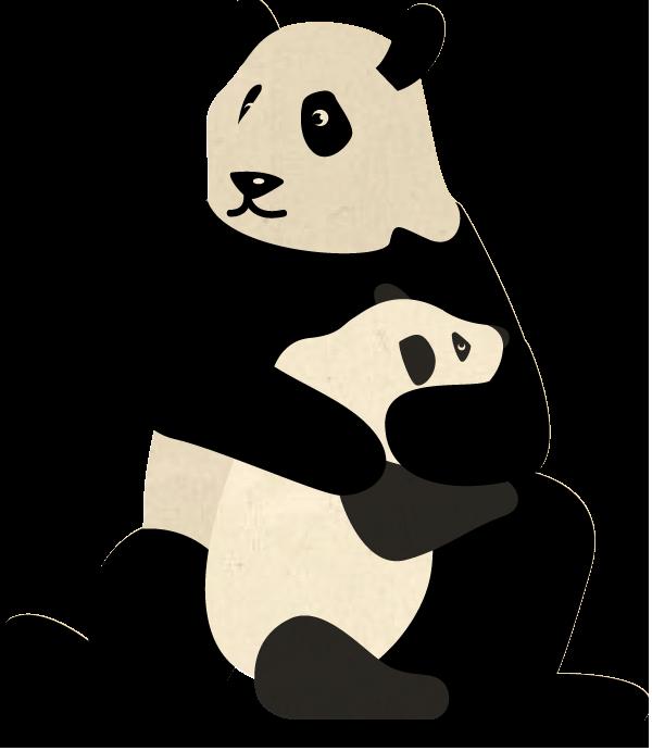 Clipart panda panda habitat. Wwf uk giant pandas