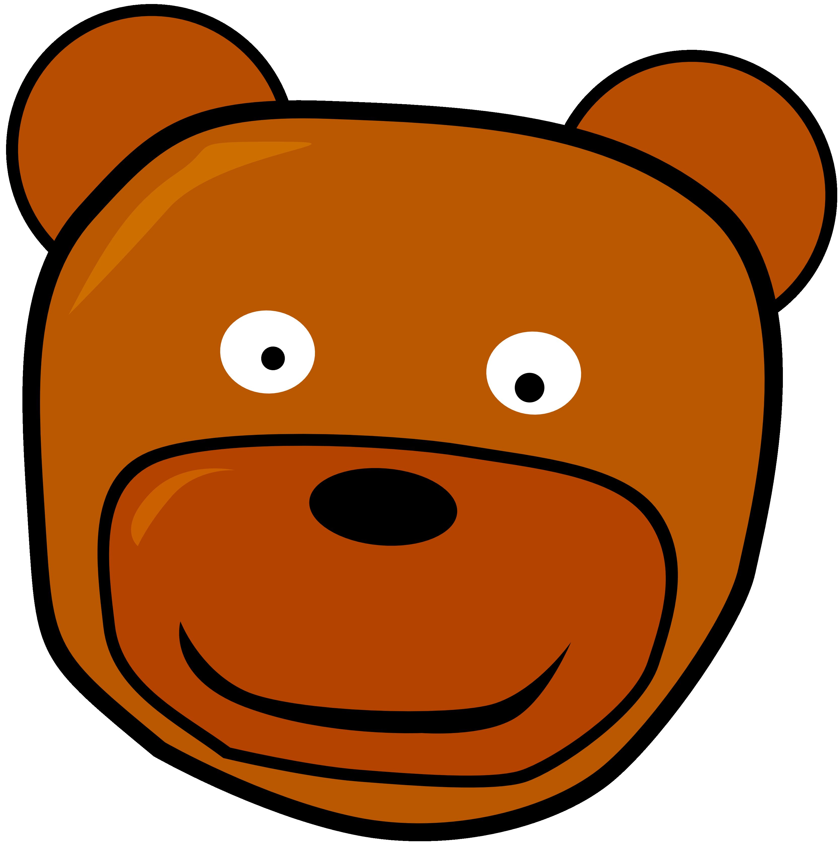 Head clipart question. Panda free images bearheadclipartblackandwhite