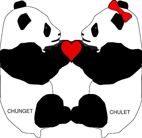 Clip art at clker. Clipart panda panda love