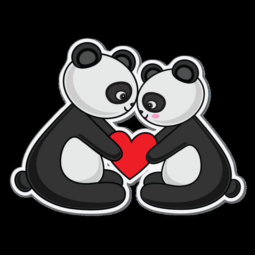 Clipart panda panda love. Png by assabeea on