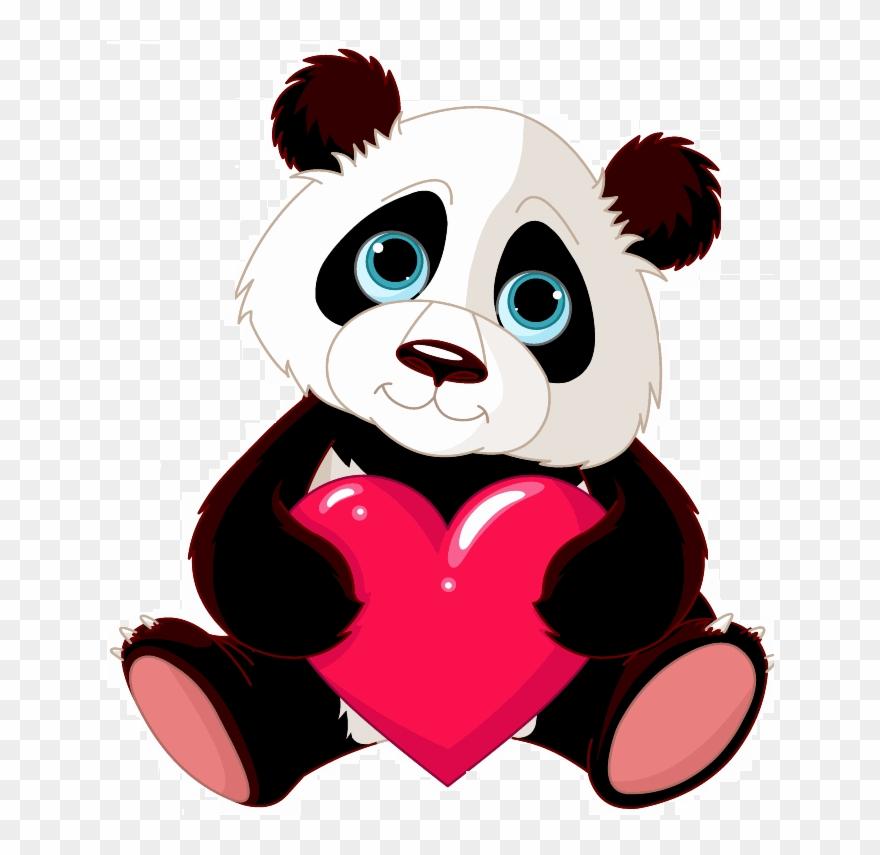 Transp back clip art. Clipart panda panda love