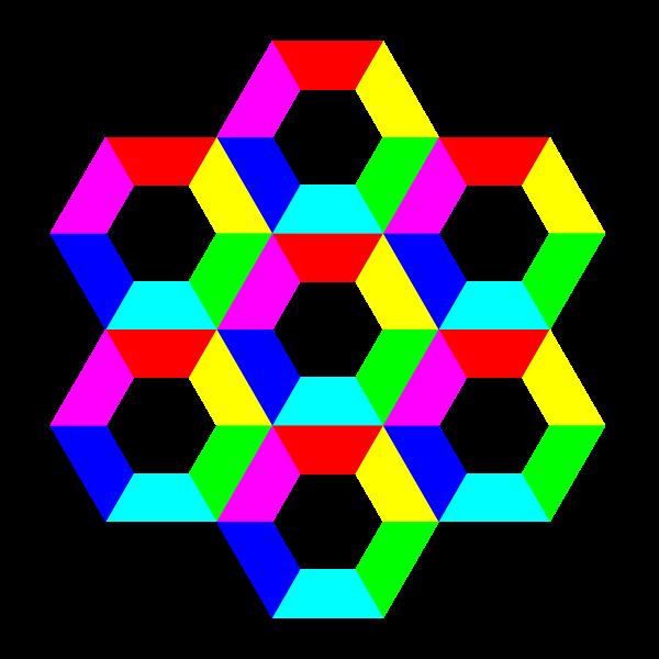 Clipart panda pattern. Half hexagon fun free