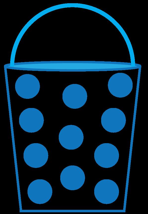 Blue sand pail free. Clipart panda pattern