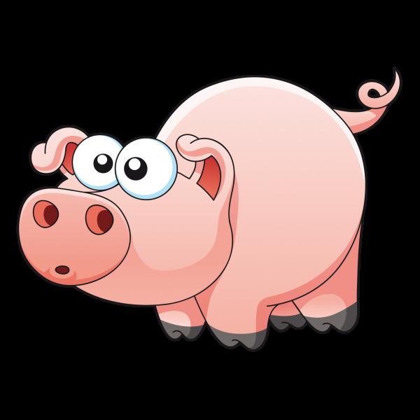 Bigpig cochon rose. Clipart panda pig
