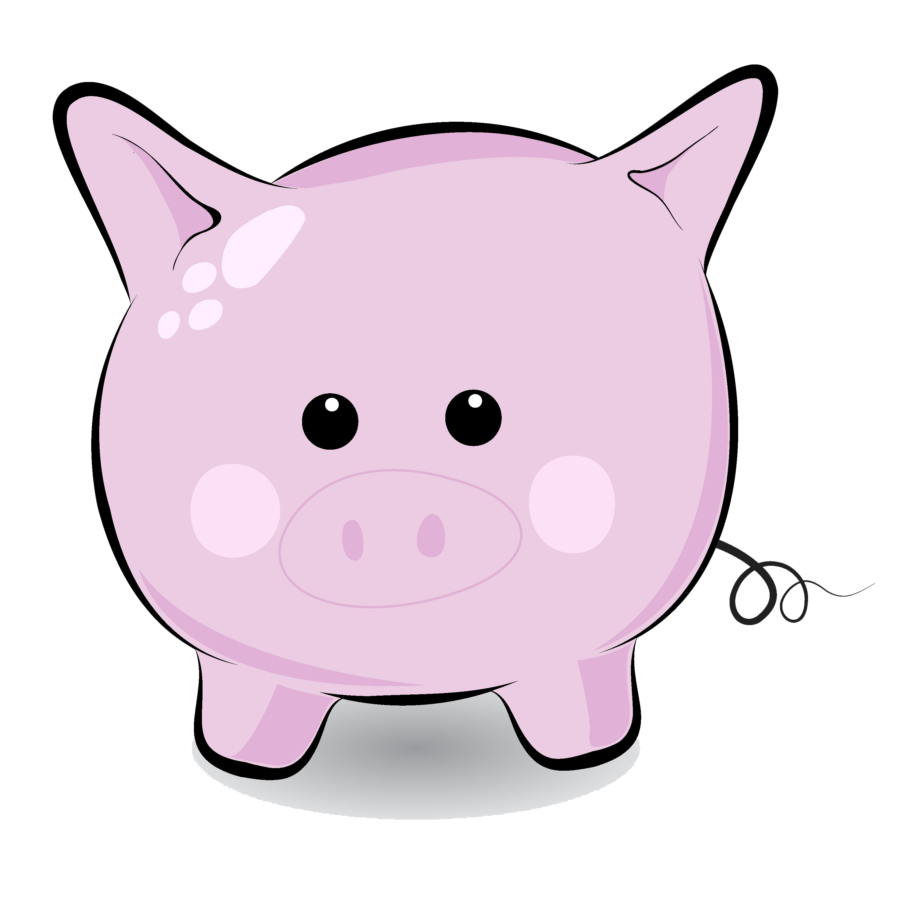 Pig clipart black and white. Panda free images