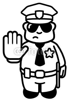 Clipart panda police stop. Saying policeman free
