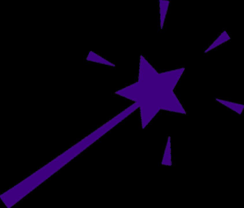 Magic wand isolated on. Clipart panda purple