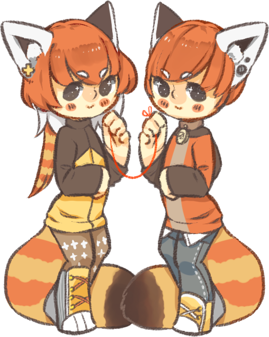 Clipart panda red panda. Pair by kiim adopts