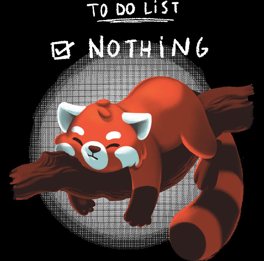 Clipart panda red panda. Day tee fury llc