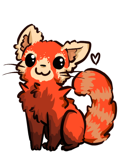 By prismsky on deviantart. Clipart panda red panda