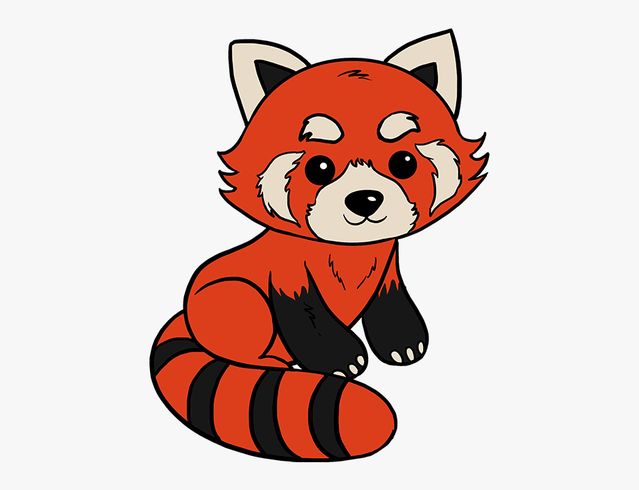 How to draw easy. Clipart panda red panda