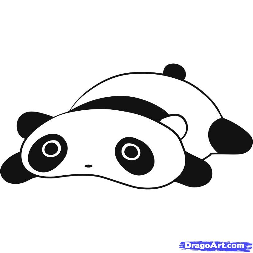 How to draw tarepanda. Panda clipart tare panda